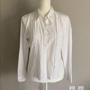 Ann Taylor LOFT Shirt Button Down Cotton Size 10